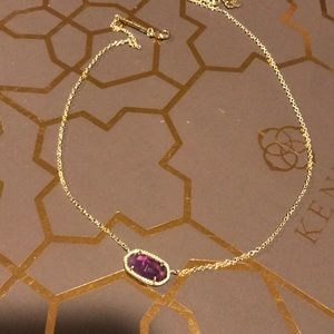 Kendra Scott Eliza necklace, amethyst